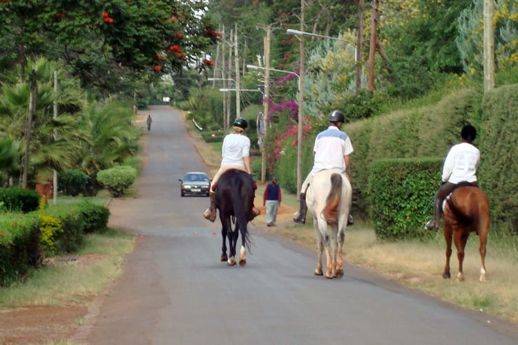 Riding from New Muthaiga Stables